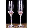 Bride and Groom Etched Toasting Flute